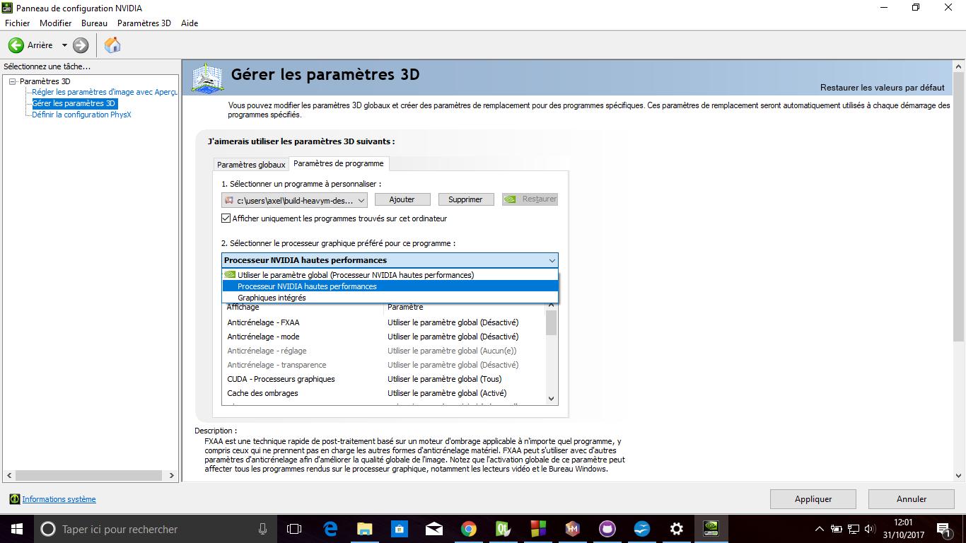 NVIDIA preferred GPU