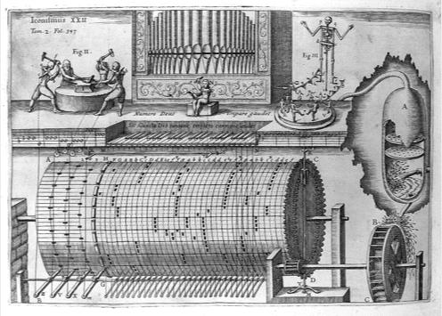 Hydraulic organ, A.Musurgia Universalis, 1650