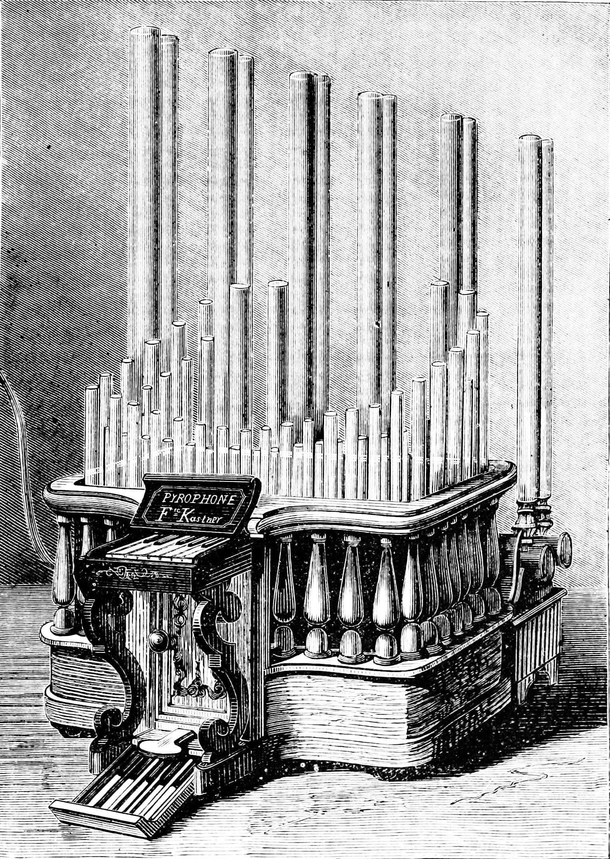 Le pyrophone ou orgue à gaz